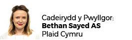 Bethan Sayed AC - Cadeirydd
